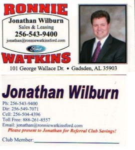 Jonathan Wilburn\'s business card
